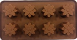 szilikon csoki öntőforma - Virág 8db
