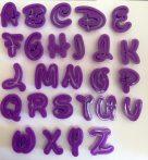 Fondant / Marcipán betű kiszúró (műanyag,díszes) készlet