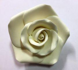 Rózsa XL 8cm - Fehér