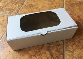 Süteményes doboz ablakos papír 14cm*27cm*8cm