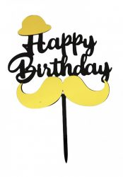 "Torta beszúró "" Happy Birthday"" - 02."