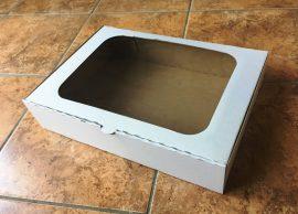 Süteményes doboz ablakos papír 26cm*36cm*8cm