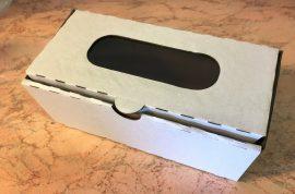 Süteményes doboz ablakos papír 10cm*20cm*8cm