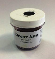 Ételfesték por DecorLine 10g - Fekete