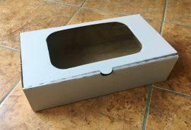 Süteményes doboz ablakos papír 18cm*31cm*8cm