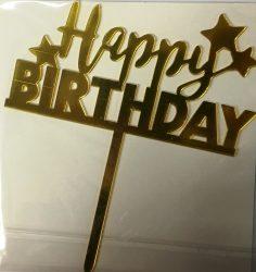 "Torta beszúró "" Happy Birthday"" - 14."