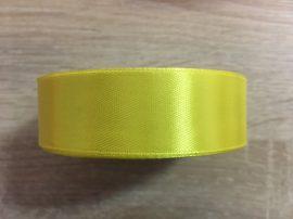 Szatén szalag 2,5cm-es - Sárga