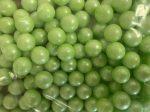 Dekor cukorgyöngy  9mm Zöld - 100g