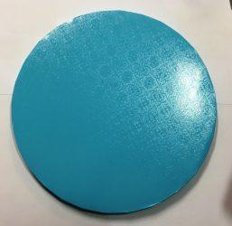 Torta dob 30cm mintás kék