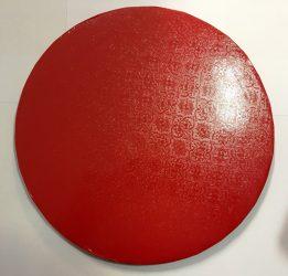 Torta dob 35cm mintás piros