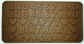 szilikon csoki öntőforma - számok
