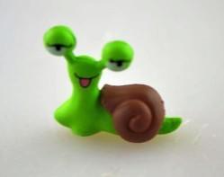 Csiga nagyszemű (mini) műanyag