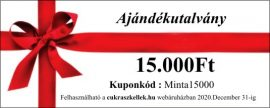 Ajándékutalvány - 15000 forint