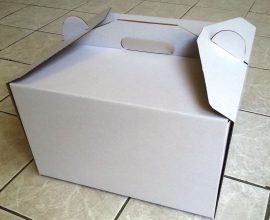 Torta doboz 26cm-es fehér