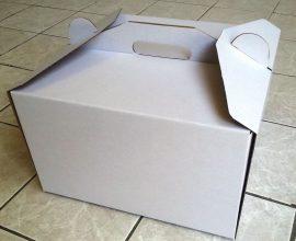 Torta doboz 35cm-es fehér
