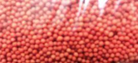 Dekor cukorgyöngy 1mm Piros - 100g