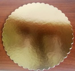 Torta alátét kerek arany 22cm (3mm vastag)