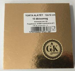 Torta alátét négyzet arany 12*12cm (1mm vastag) Economy (10db)