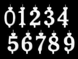 """számgyertya fehér 15db - """"3"""""""