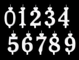 """számgyertya fehér 15db - """"4"""""""