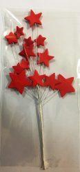 Csillag beszúró - Piros