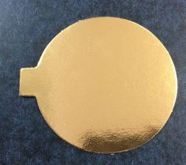 Torta alátét kerek arany   10cm
