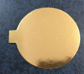 Torta alátét kerek 10cm arany