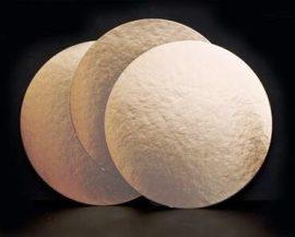 Torta alátét kerek 28cm arany (1mm vastag) Economy