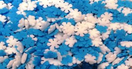 Confetti hópehely kék-fehér 50g