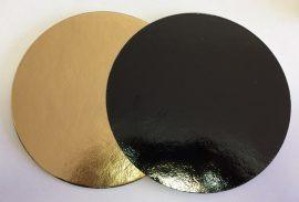 Torta alátét kerek  arany-fekete 22cm