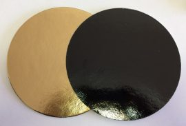 Torta alátét kerek 30cm arany-fekete