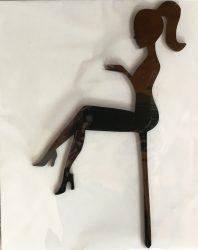 Tortába szúrható műanyag (siluett) Lány