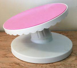 Forgatható tortadíszítő állvány (műanyag) 22cm dönthető